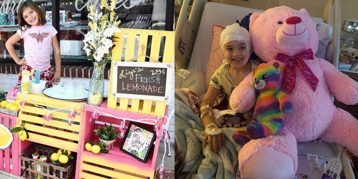 A 7-year-old selling Lemonade to pay for brain surgery