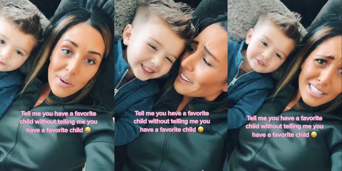 mom picks favorite child tiktok video