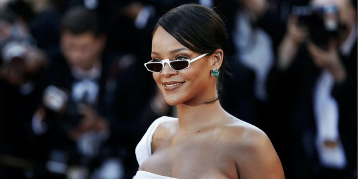 Rihanna accused of cultural appropriation for necklace featuring Hindu deity.