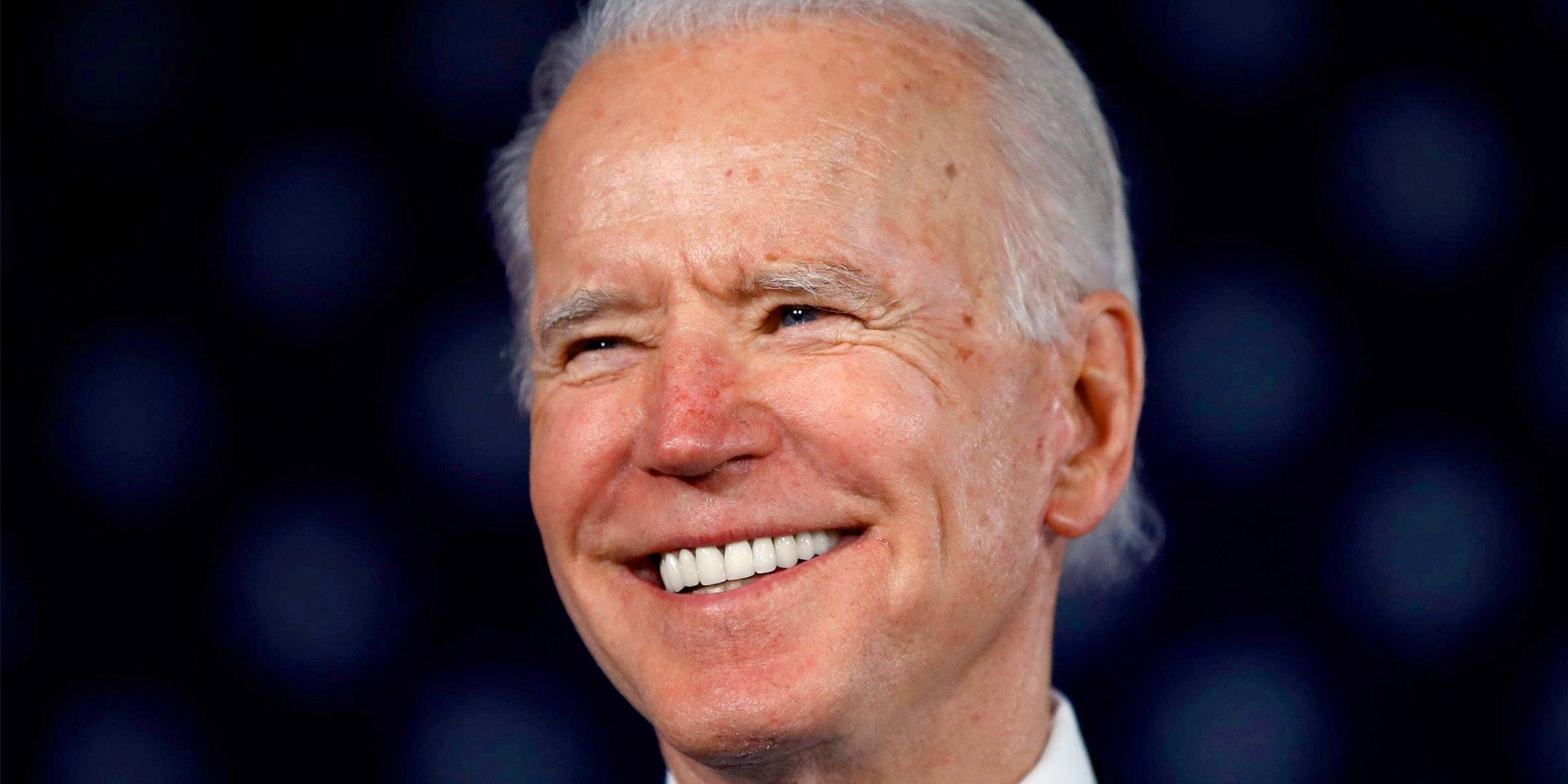 U.S. President Joe Biden smiling