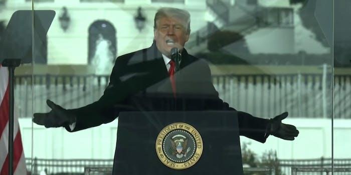 Former President Donald Trump speaking