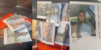 tiktoker's valentine's day gift featuring girls whose instagram photos her husband has liked