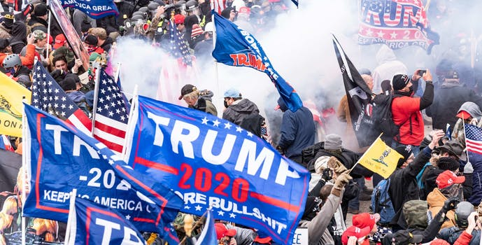 trump supporters at the us capitol