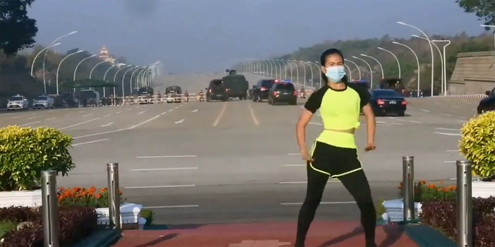 myanmar aerobics routine