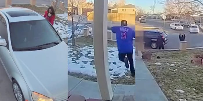 Woman steals car and shoots at family when confronted
