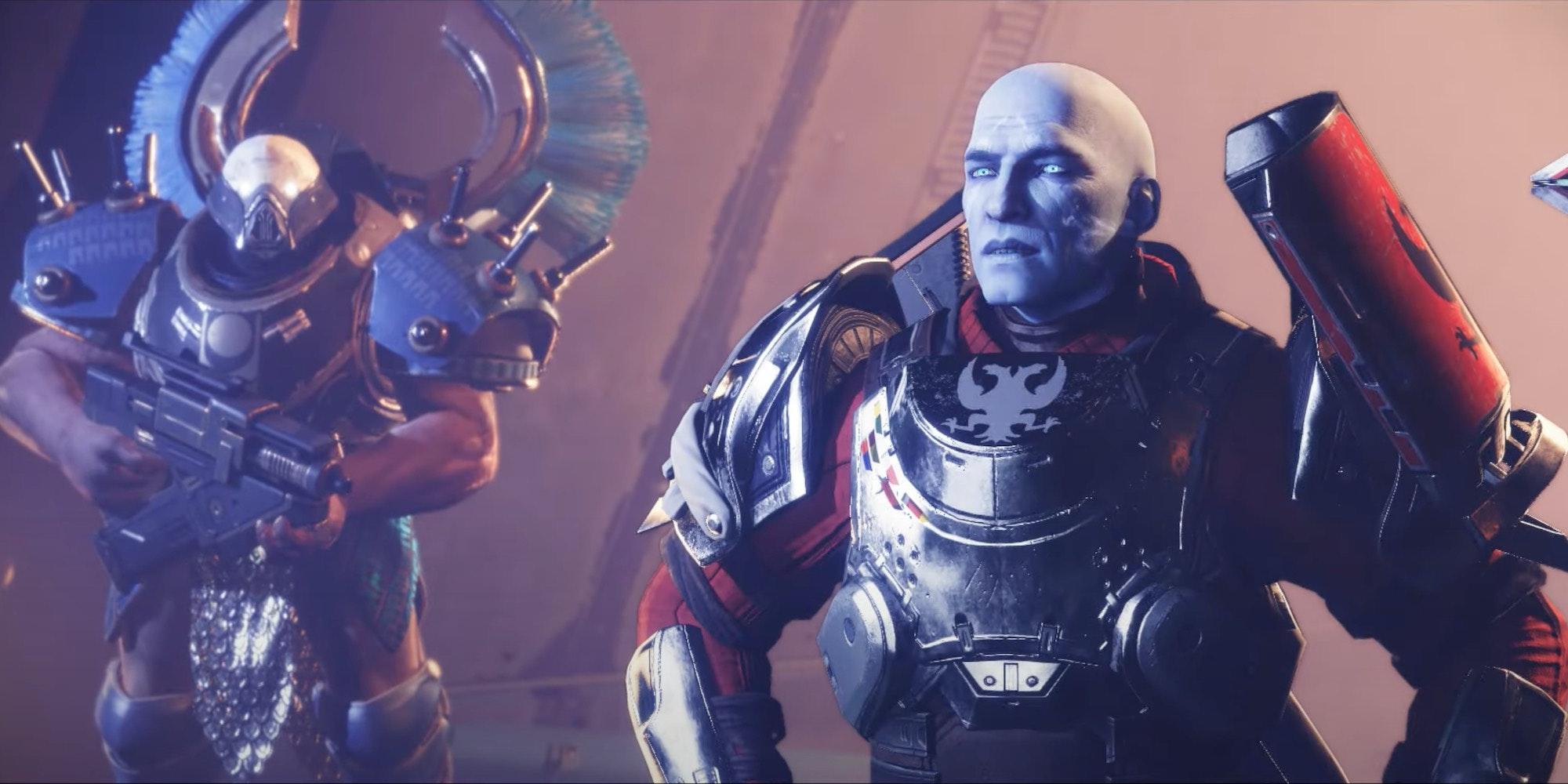 commander zavala (right) in destiny 2's season of the chosen