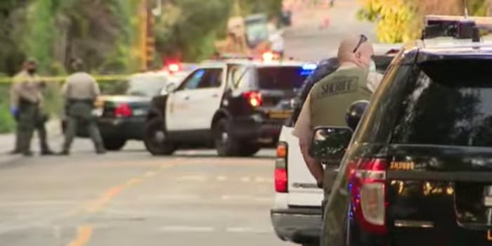 Los Angeles County Sheriff's response to double homicide