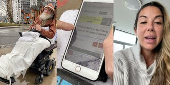 Woman confronts elderly man about COVID patients outside of hospital