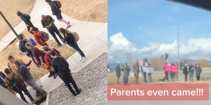 Video shows low turnout for anti-vaxx 'walkout'