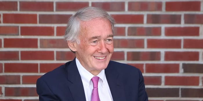 Sen. Ed Markey spoke about net neutrality legislation on Tuesday.