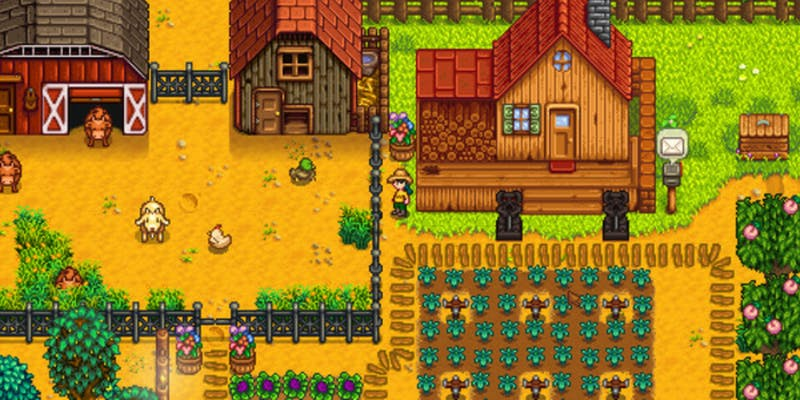 Stardew Valley, a multiplatform game like Animal Crossing