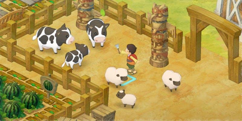 Farming scene from Doraemon Story of Seasons