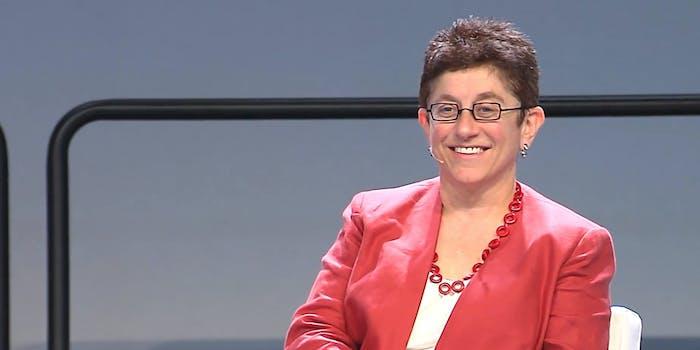 Gigi Sohn speaking at an event in 2014.