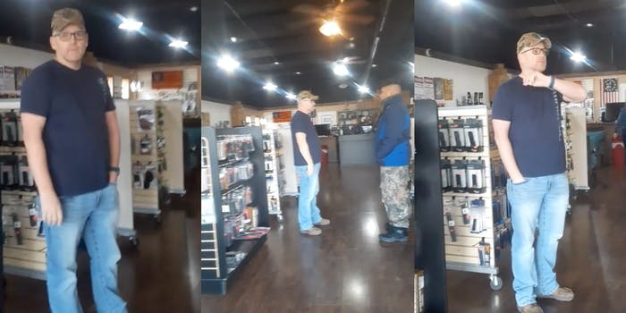 Gun store owner refusing service to couple over Black Lives Matter masks