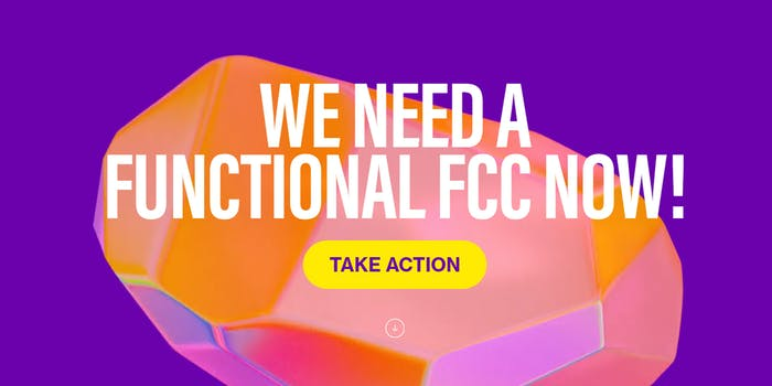 Advocates have relaunched Battleforthenet.com to pressure Biden to fill out the FCC.