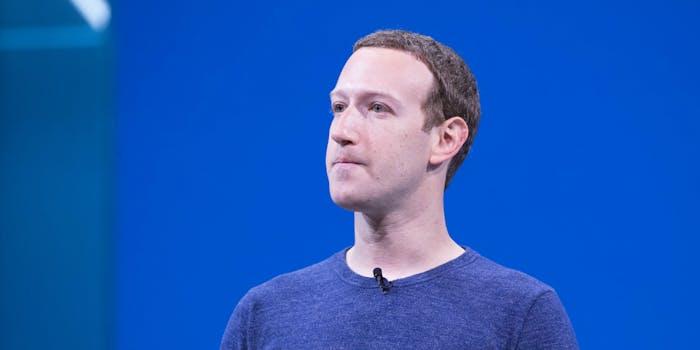 Facebook CEO Mark Zuckerberg staring off to the left.