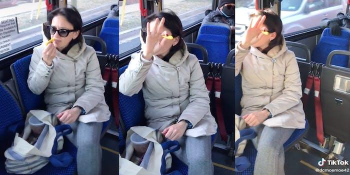 TikTok of woman confronting maskless passenger on MetroBus