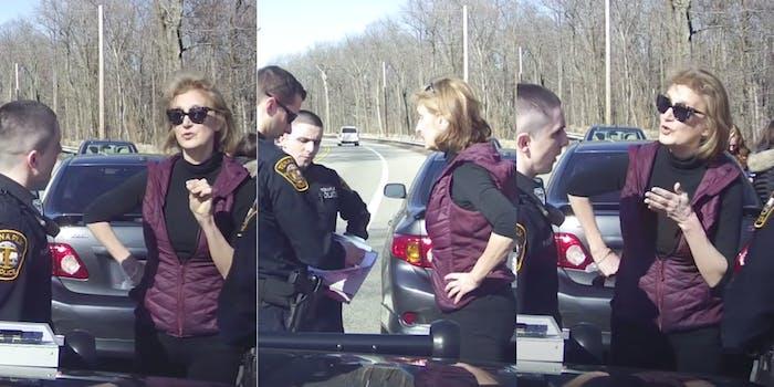 Police commissioner Karen berating police officers