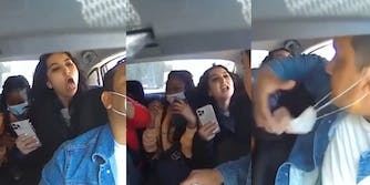 Uber driver harassed by three anti-mask female passengers