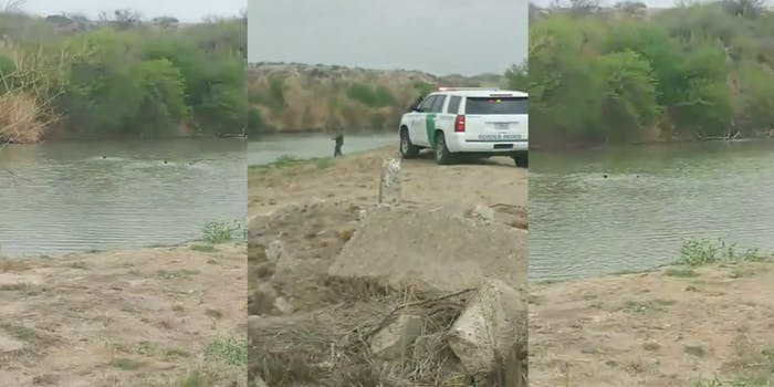video shows three migrants drowning in Rio Grande river