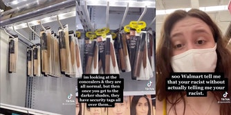 Light shades of Walmart makeup without security, dark shades with security tags