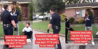 Aggressive cop tells handcuffed man fuck you video