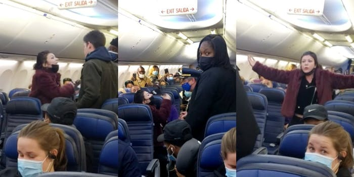 Racist anti-masker gets kicked off plane, says it's 'because I'm white.'