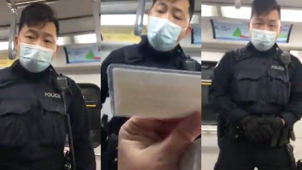 Anti Mask Karen gets arrested in Canada video