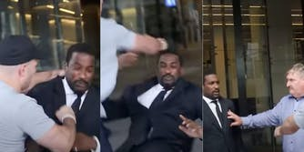 australia security guard attacked by white supremacist