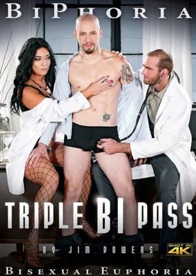 """TRIPLE BI PASS"" movie poster for BiPhoria."