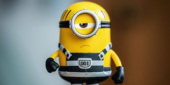 A minion action figure.