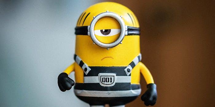 A minion action figure.
