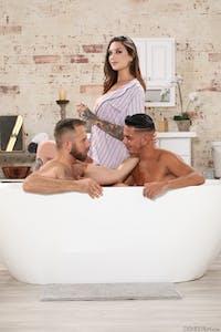 Rocky Emerson, Joel Someone & Cesar Xes get cozy in the bathtub.
