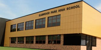 Exterior of Elmwood Park High School.