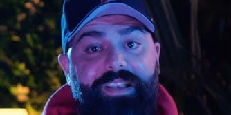 Keemstar talking into the camera.