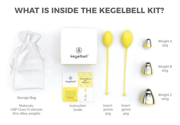 What's in the Kegelbell kit