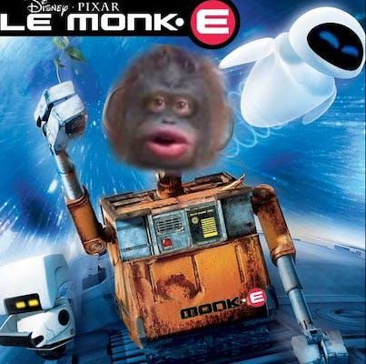 Le Monke movie poster based on Wall-E