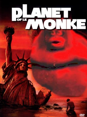 Planet of Le Monke movie poster based on Planet of the Apes