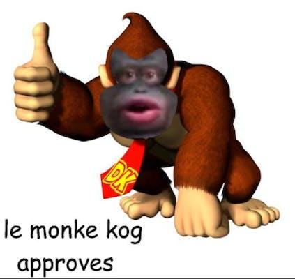 Le monke kong meme