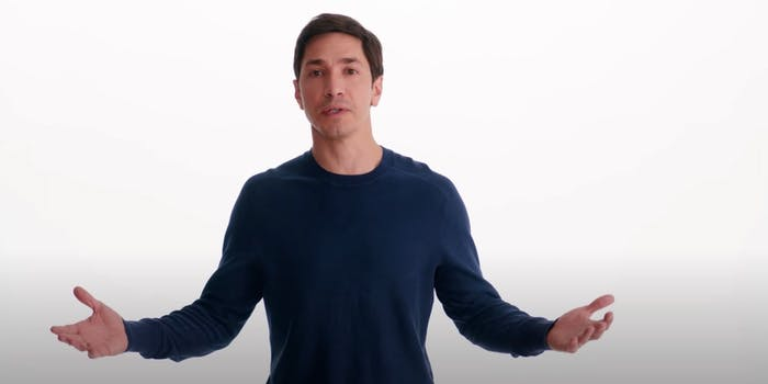 Actor Justin Long in an Intel ad