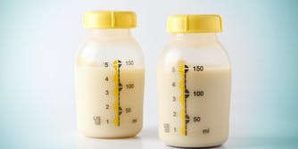 bottle of mother breast milk. the sexist milky milky meme started on 4chan.