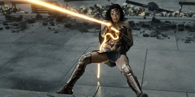 wonder woman in zack snyder's justice league