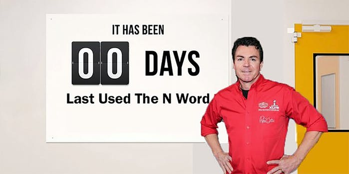papa johns founder n-word 20 month