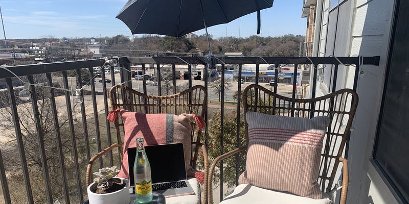 DIY patio umbrella IRL newsletter