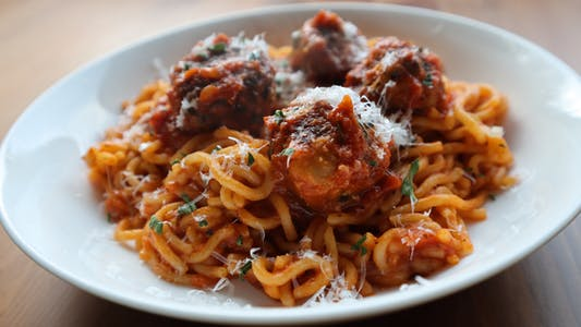 spaghetti and meatballs pasta machine