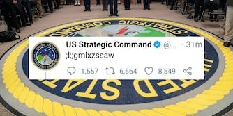 A tweet from USSTRATCOM