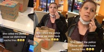 customer on phone while at taco bell