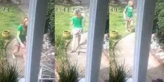 racist neighbor throwing junk while shouting racial slurs