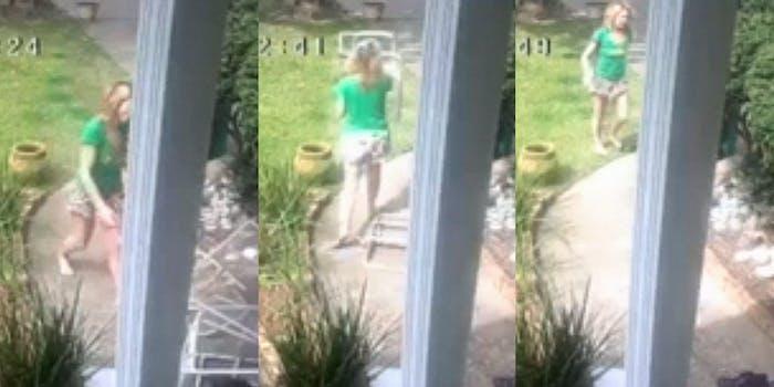racist neighbor throwing junk while shouting racial slurs