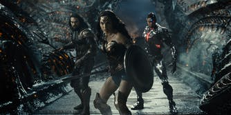 aquaman, wonder woman, and cyborg in zack snyder's justice league